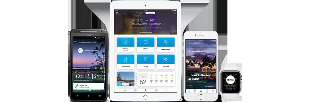 Hilton Honors mobile app