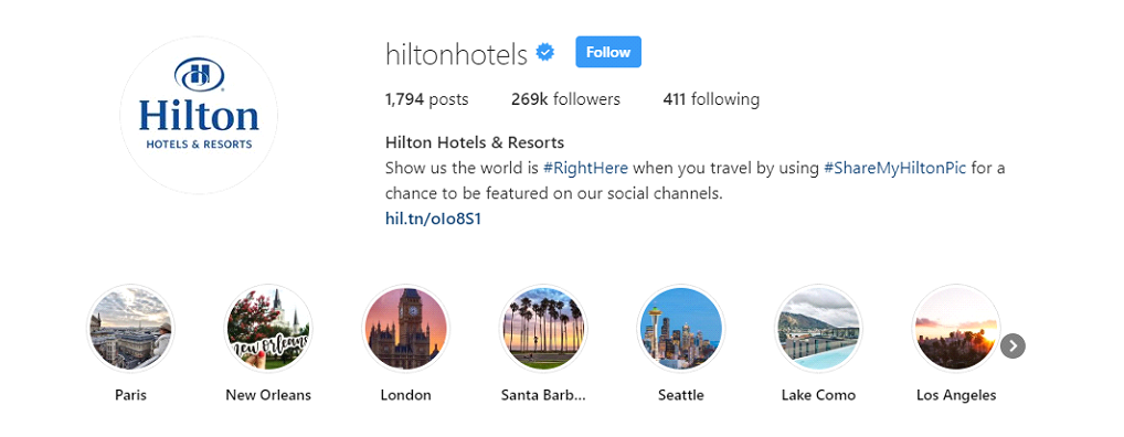 hilton-hotels-location-hashtags