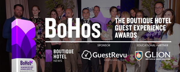 Entries open for the 2018 Boutique Hotel Guest Experience (BoHo) Awards