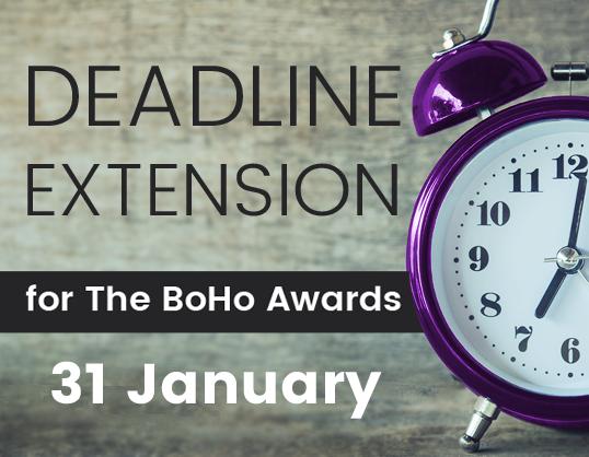Still time to enter The BoHo Awards (deadline extended)
