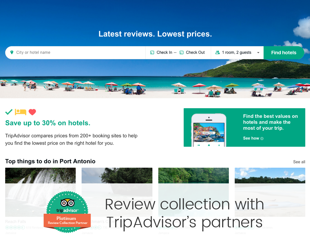 Review collection with TripAdvisor's partners